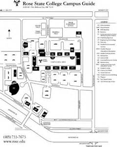 Rose state college campus map rose state college midwest city ok us