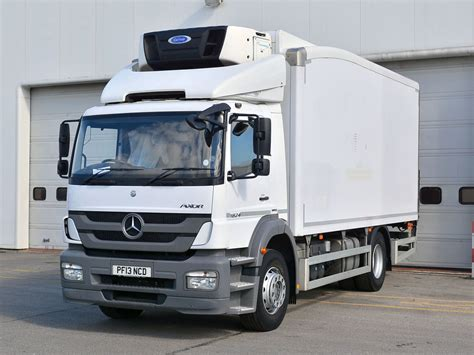 mercedes truck white mercedes benz atego 1823l fridge bell truck and van