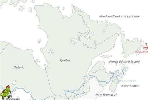 east coast canada map map of canada east coast