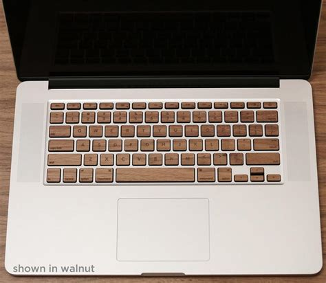 Keyboard Skin For Macbook lazerwood macbook pro wood keyboard skin set gadgetsin