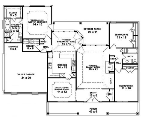 One Story Floor Plans by One Story Open Floor Plans House Plan Details Floor