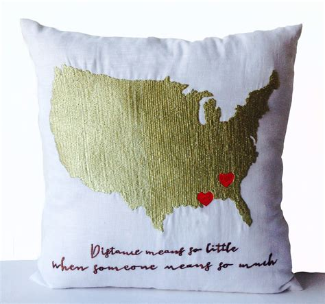 Pillow Distance by Distance Pillow Relationhip Pillow Us Map
