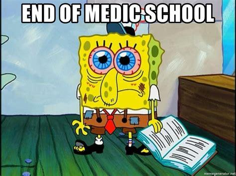Meme Generator Spongebob - end of medic school spongebob tired meme generator