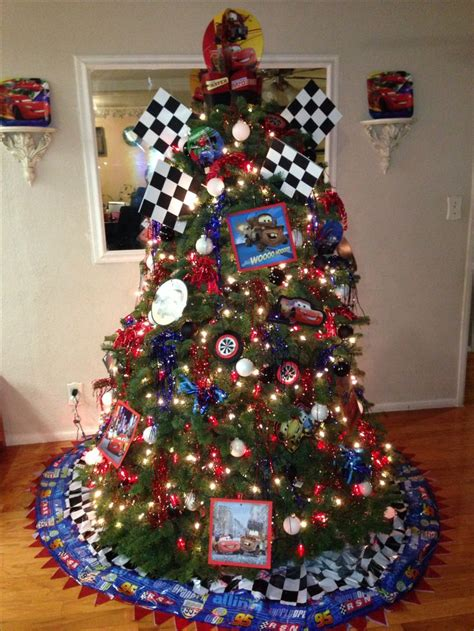 disney cars theme christmas tree disney pinterest