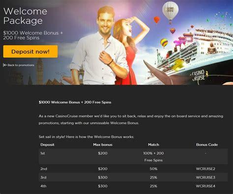a complete list of casino cruise bonus codes - Casino Cruise Deposit Bonus