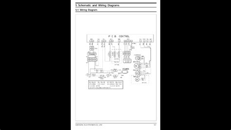 samsung fully automatic washing machine wiring diagram