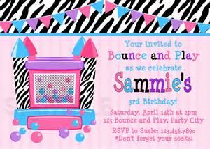 printable birthday invitations bounce house