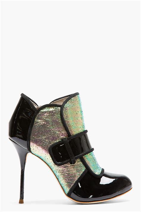 webster boots webster black patent leather holographic ankle