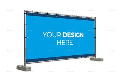 mockup design banner building fence banner mockup set by viewpointmediabe