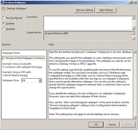 skype for business gpo templates using group policy to configure desktop wallpaper