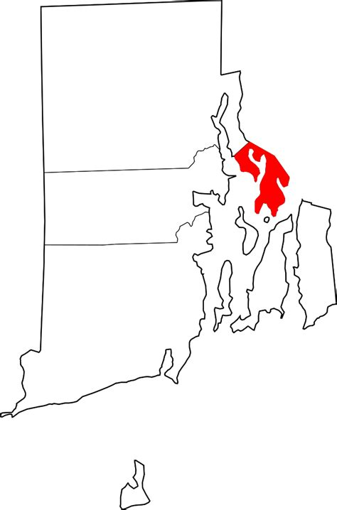 Ri Divorce Records File Map Of Rhode Island Highlighting Bristol County Svg