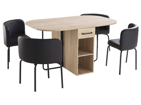 table 4 chaises ensemble table 4 chaises maison design modanes com