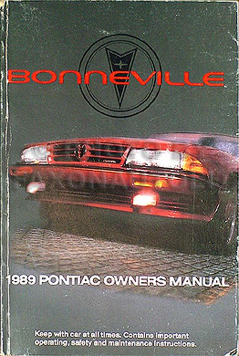 automotive repair manual 1989 pontiac bonneville parental controls 1989 pontiac bonneville original owner s manual 89 le se sse