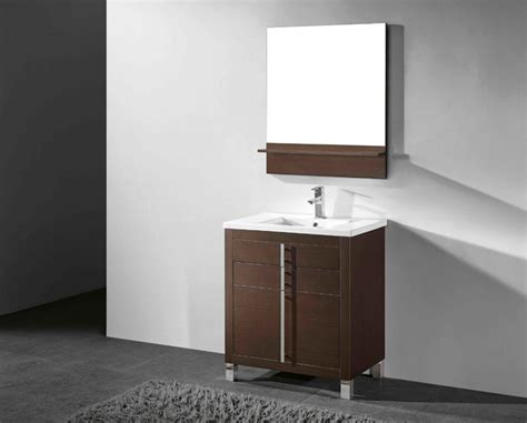 Modern Walnut Bathroom Vanity Adornus Turin 30 Inch Walnut Modern Bathroom Vanity