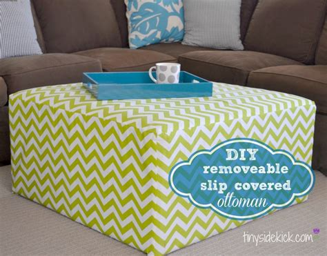 diy ottoman cover get your diy on holiday signs and furniture