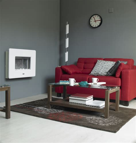 red sofa with grey walls living room with red sofa room small character grey