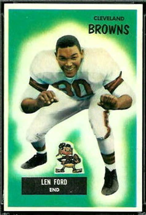 len ford rookie card 1955 bowman 14 vintage football