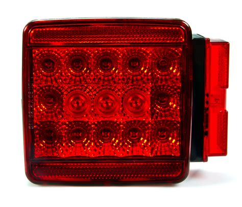 trailer brake light kit square led trailer light kit 4 1 2 led brake turn