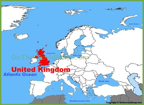 map uk and europe uk location on the europe map