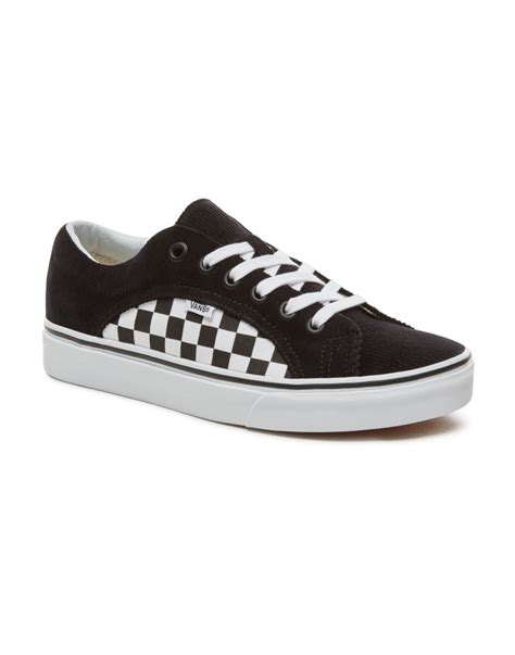 vans lampin checkercord blacktrue white sixty