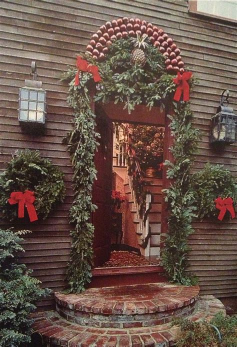 96 best colonial christmas homes outdoors images on