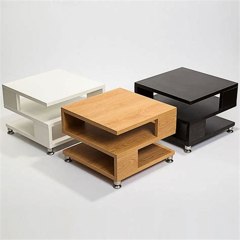 Square Coffee Table Storage White Black Oak Square Coffee Table Storage Wood Living Room Small Furniture Ebay