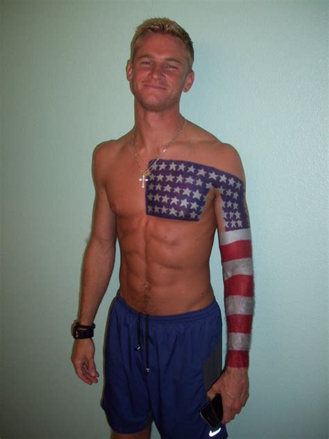 cool american flag tattoo on chest and arm tattooimages biz