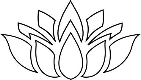 black and white clipart lotus flower clipart black white clipground