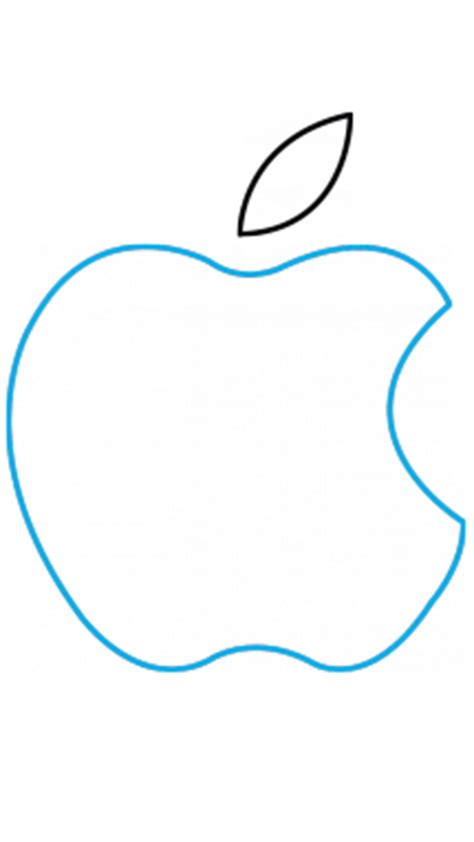 How To Draw Apple Logo Step By Step