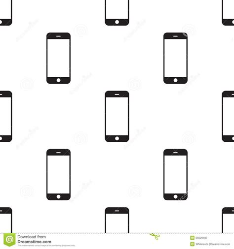 pattern html telephone black modern smartphone isolated on white background