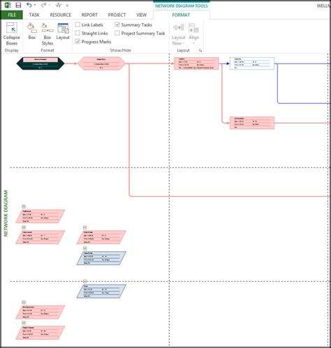 network diagram in ms project using a network diagram in microsoft project ten six