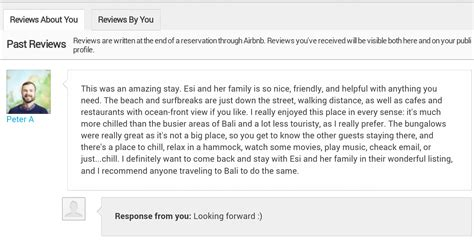 airbnb review i definitely want to come back and stay in this wonderful