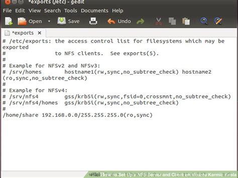 configure ubuntu nfs server how to set up a nfs server and client on ubuntu karmic koala