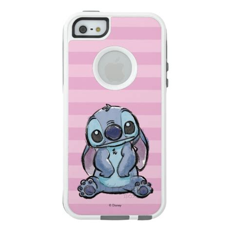 Stitch F0227 Iphone 5 5s lilo stich stitch sketch otterbox iphone 5 5s se