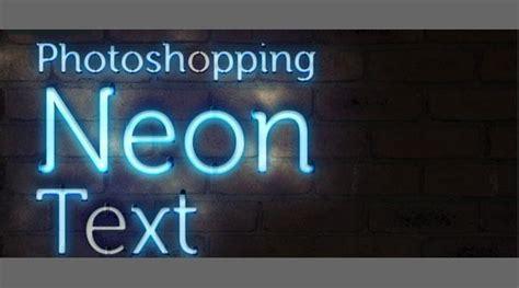 adobe photoshop neon text tutorial create neon effect photoshop tutorials psddude
