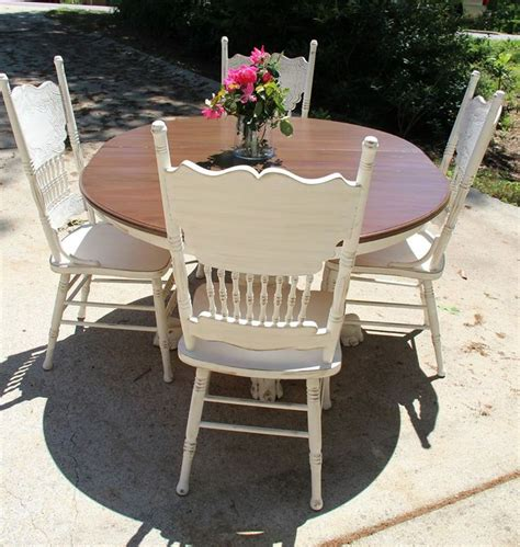 Redo Kitchen Table And Chairs 26 Best Images About Painted Press Back Chairs On