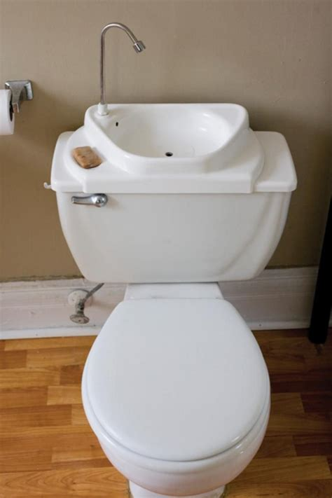 toilet with sink on top sink positive sink toilet combo saves water tiny house