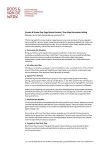 procter amp gamble 5 step persuasive selling one page memo