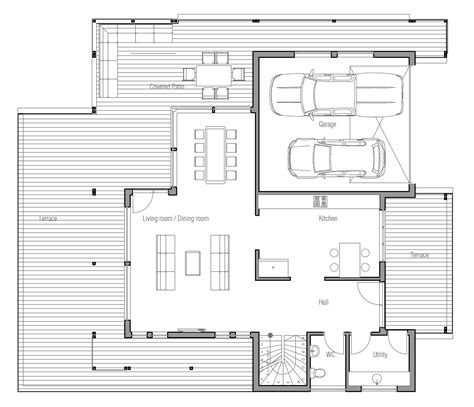 house plans with balcony modern house plan with very large balcony house plan