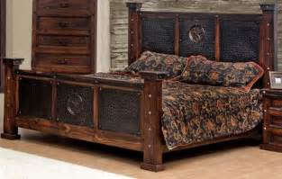 rustic king bedroom sets copper creek king bed rustic western free s h