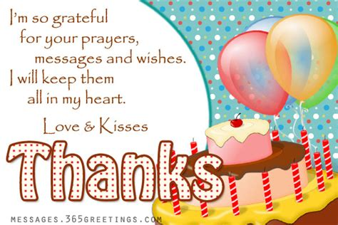 birthday thank you message 365greetings