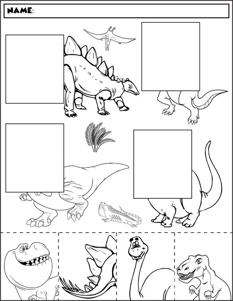dinosaur color and match group 2 autism activities