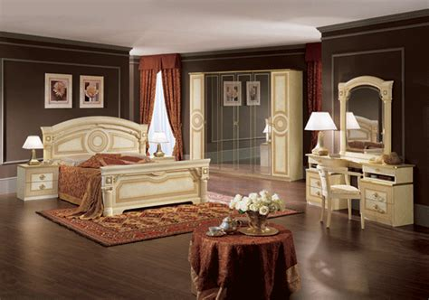 aida versace design italian 6 item bedroom set in ivory ebay aida camel bedroom set by esf