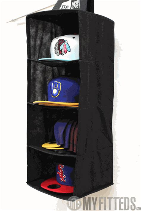 New Era Hat Rack by New Era Authentic Cap Storage System In Black Stores Up To 20 Of Your Favorite Caps