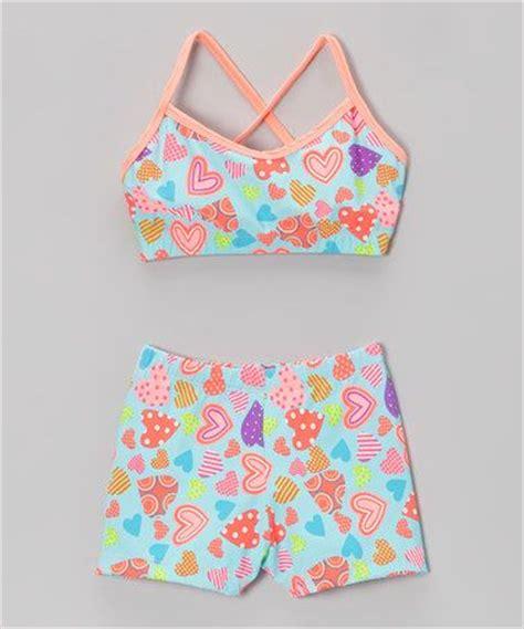 Bra Sport Hearts loshin s bright pink hearts sports bra shorts toddler