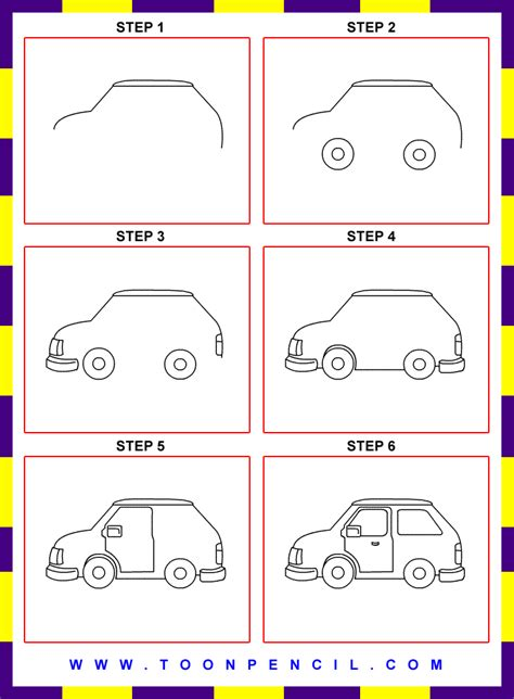 kid car drawing how to draw easy cars step by step