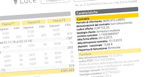 sede legale enel servizio elettrico deposito cauzionale contratto fornitura eni gas e luce
