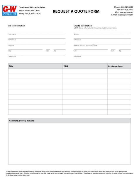 rfq form template best photos of rfq form template request for quote
