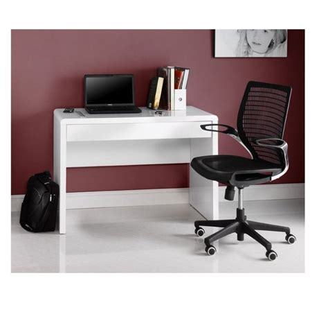 White Gloss Desk With Drawers by Luxor Gloss Workstation Gloss White Desk With Drawer