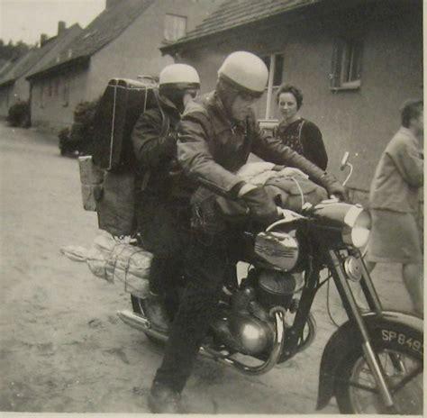 Alte Polnische Motorräder by Privates Hochzeitsreise 1956 Bieszczady 1958